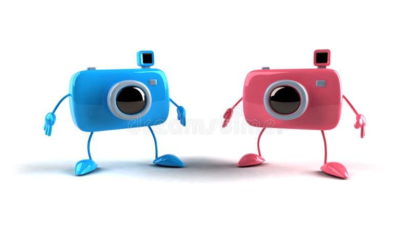 Câmeras felizes ilustração stock