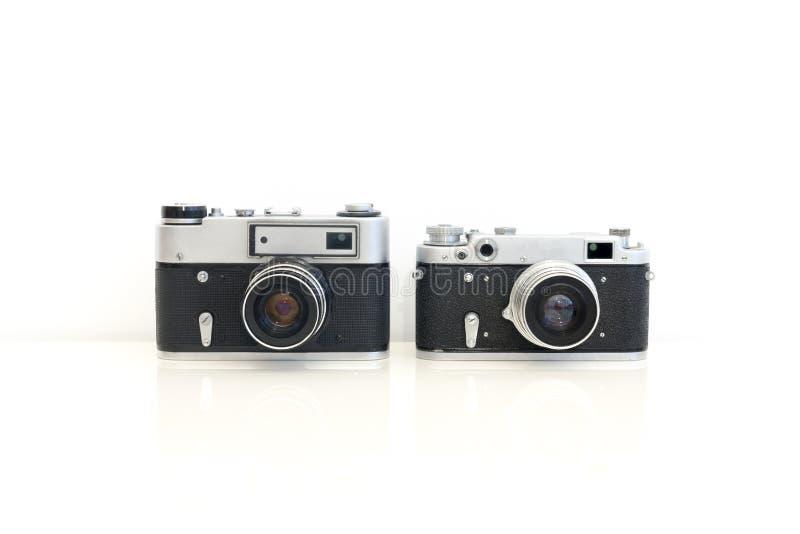 Câmeras retros fotografia de stock