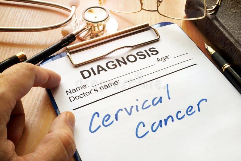 Câncer do colo do útero imagens de stock