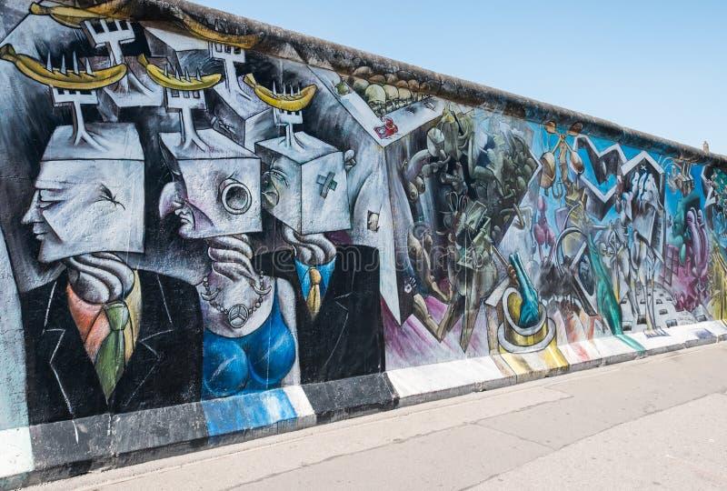 César Olhagaray壁画在柏林围墙/东边Ga的 库存图片