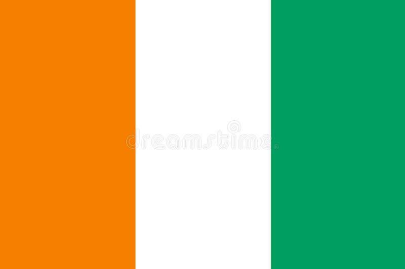 CÃÂ'te d'Ivoire国旗  与CÃÂ'te d'Ivoire旗子的背景  向量例证