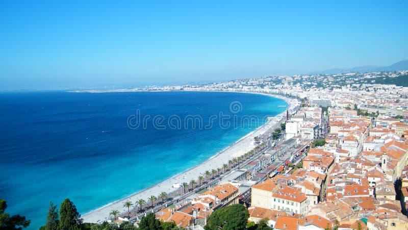 CÃ'te d'Azur in Nice stock fotografie