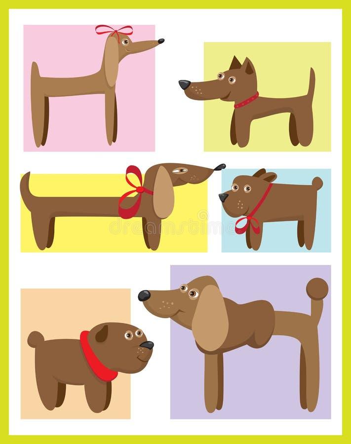 Cães ilustração royalty free