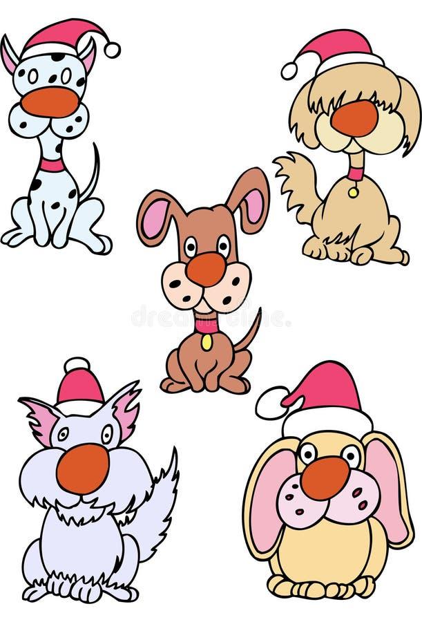 Cães do feriado ilustração royalty free