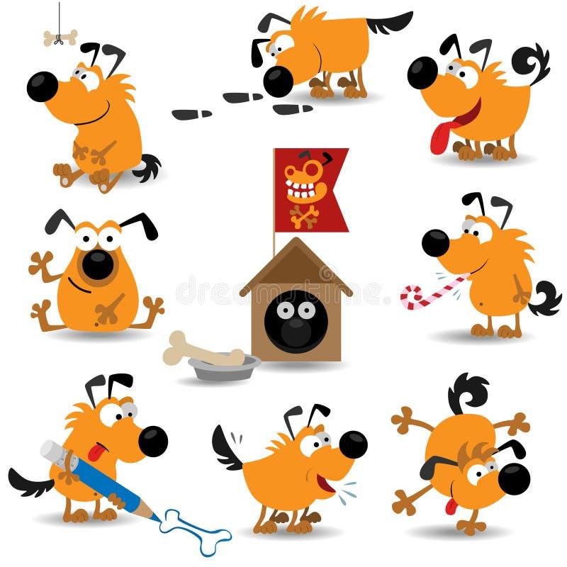 Cães engraçados set#2 ilustração stock