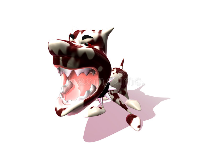Cão agressivo ilustração stock