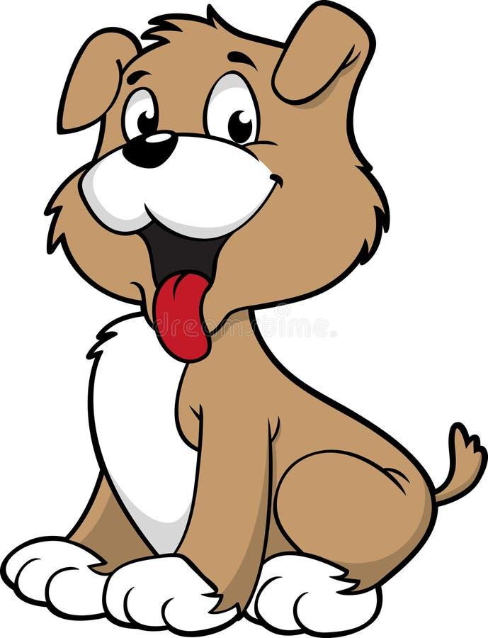 Cão bonito ilustração do vetor