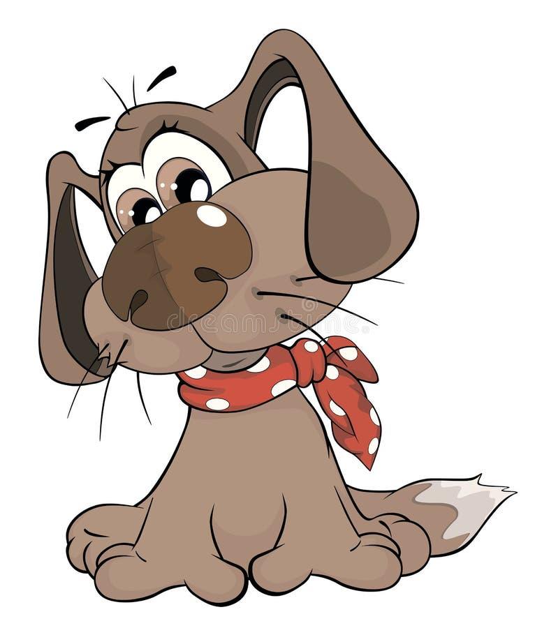 Cão bonito cartoon ilustração royalty free