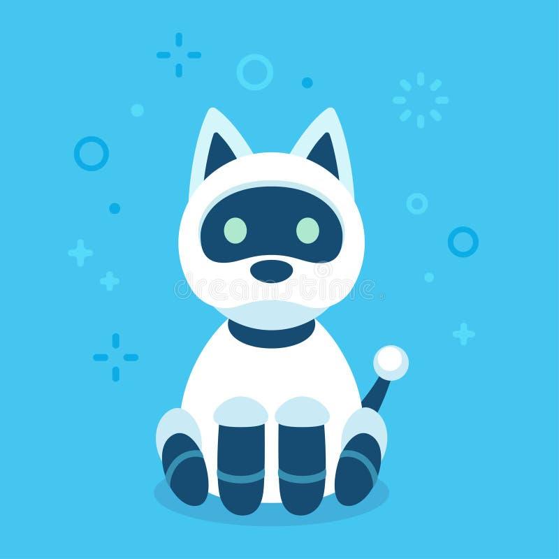 Cão bonito do robô ilustração stock