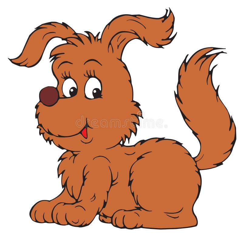 Cão bonito dos desenhos animados ilustração do vetor