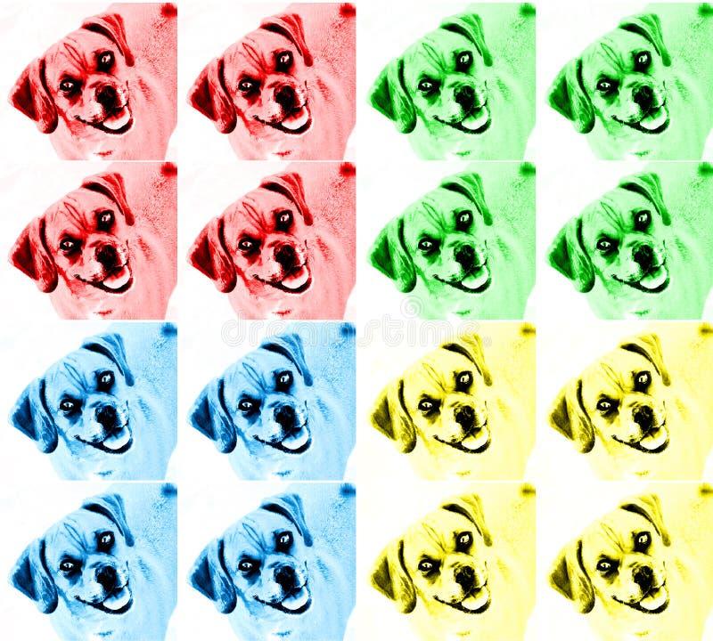 Cão colorido da arte de PNF fotografia de stock royalty free