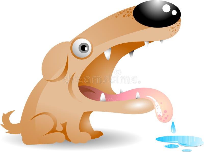 Cão com fome ilustração stock