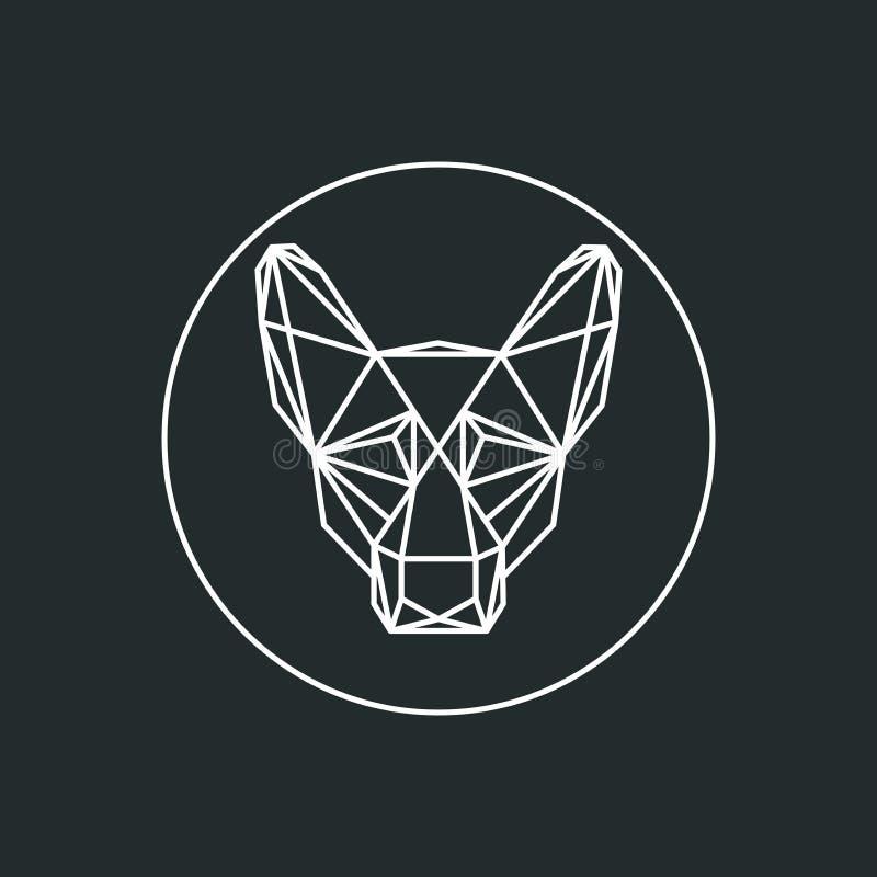 Cão como uma rede ilustração royalty free