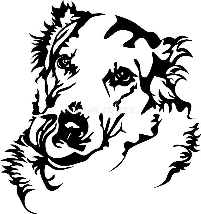 Cão da fome ilustração stock