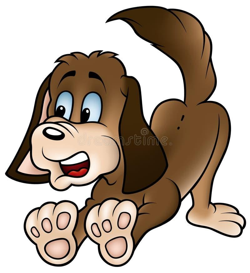 Cão de Brown ilustração stock
