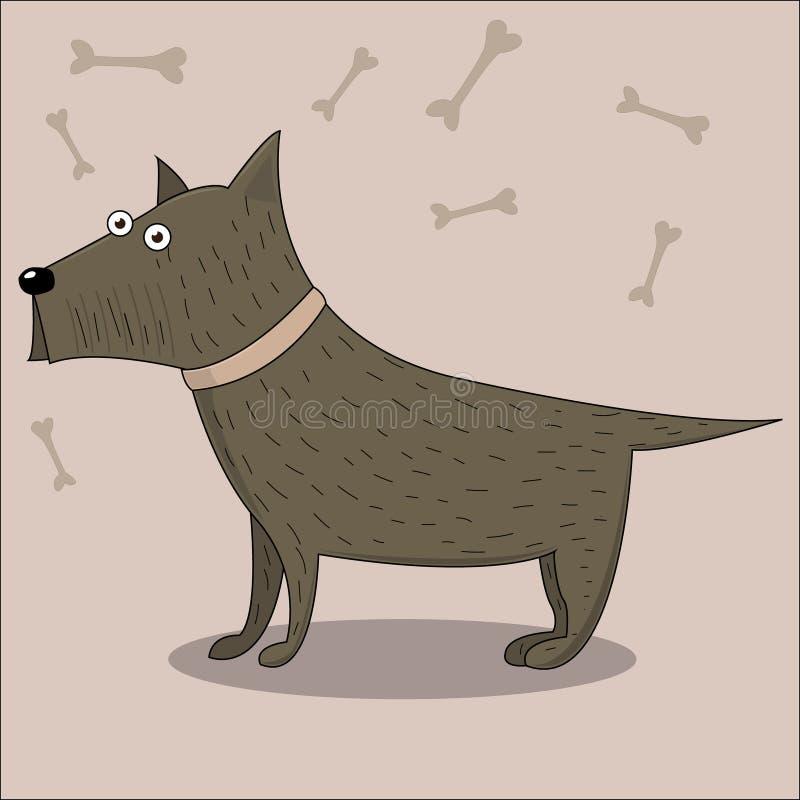 Cão de filhote de cachorro bonito dos desenhos animados ilustração royalty free
