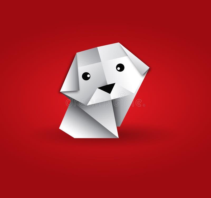 Cão de Origami ilustração stock