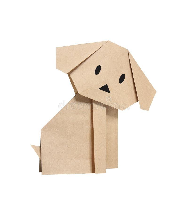 Cão de Origami imagens de stock