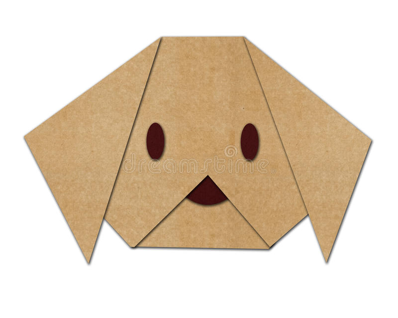 Cão de Origami feito do papel imagem de stock royalty free