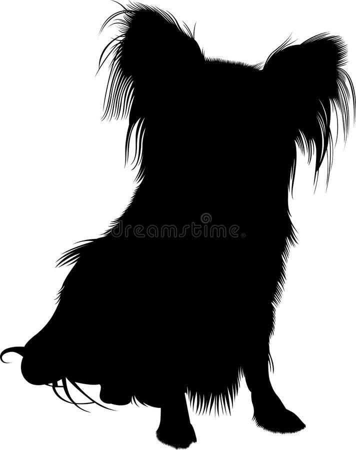 Cão de Papillon ilustração royalty free