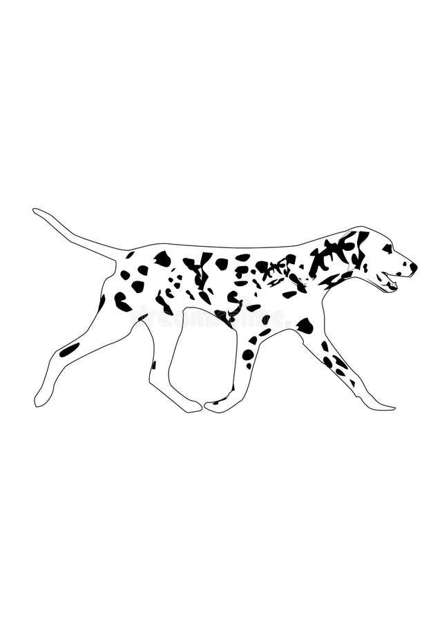 Cão de passeio imagem de stock