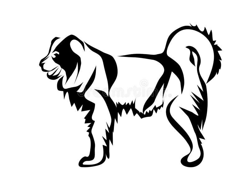 Cão de pastor caucasiano ilustração royalty free