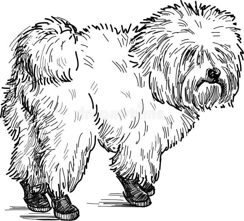 Cão de regaço ilustração do vetor