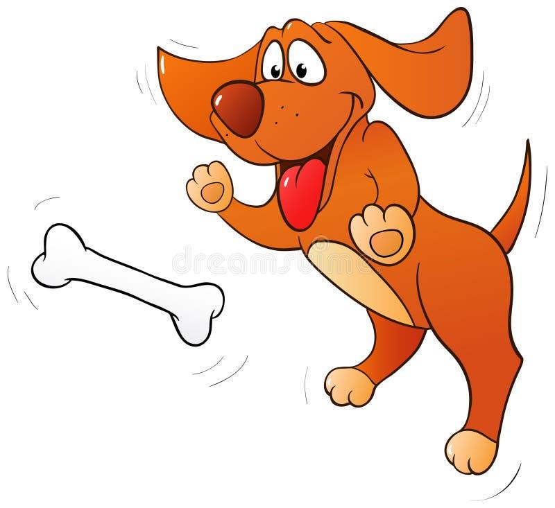 Cão de salto do divertimento ilustração stock
