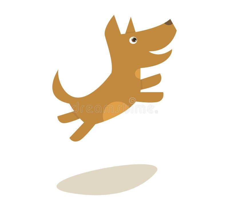 Cão de salto pequeno dos desenhos animados da ilustração do vetor ilustração do vetor