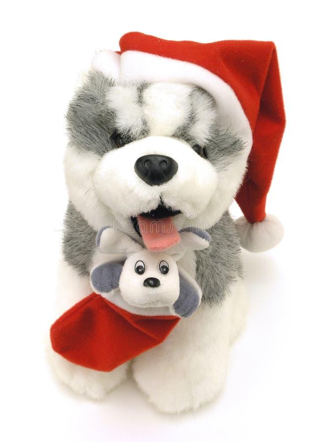 Download Cão de Santa imagem de stock. Imagem de santa, enchido, claus - 69791