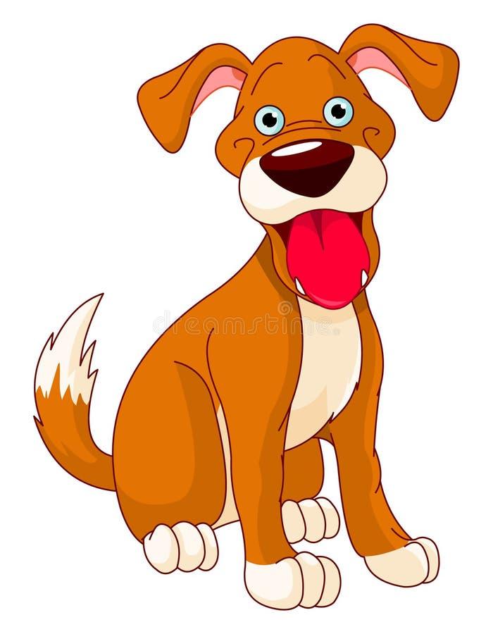 Cão de sorriso bonito ilustração stock