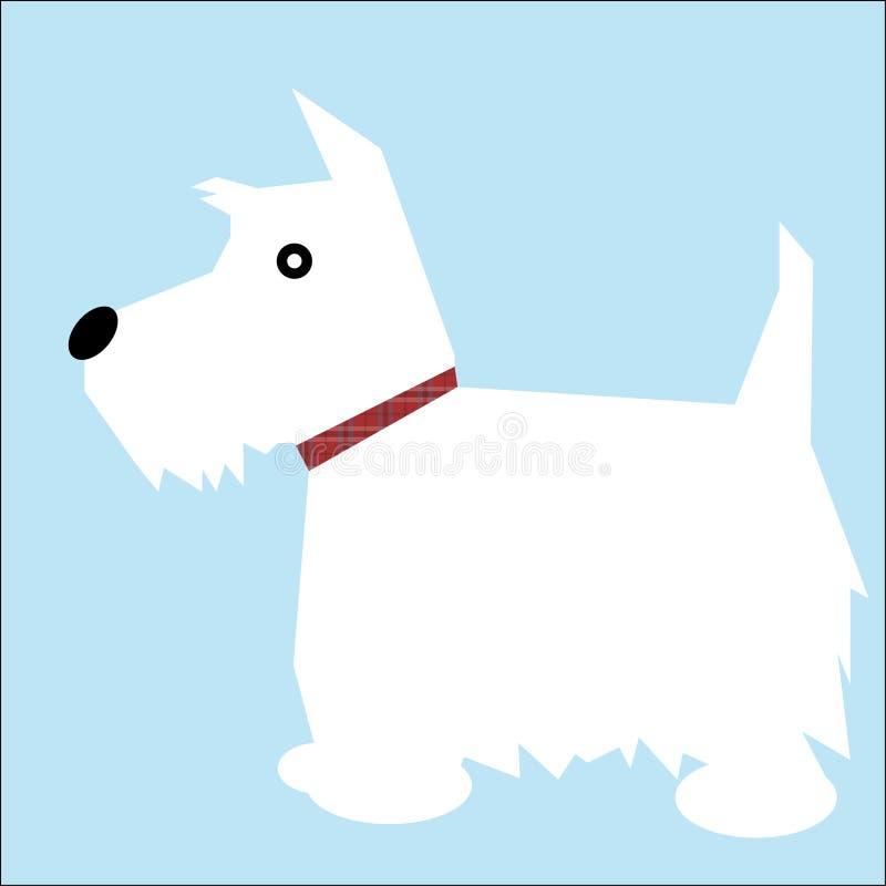 Cão de Westie ilustração royalty free