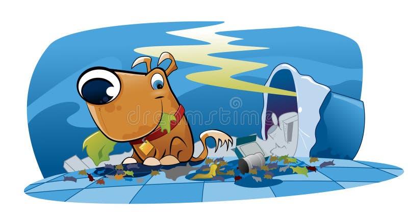 Cão desarrumado