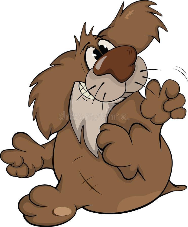Cão. Desenhos animados ilustração stock