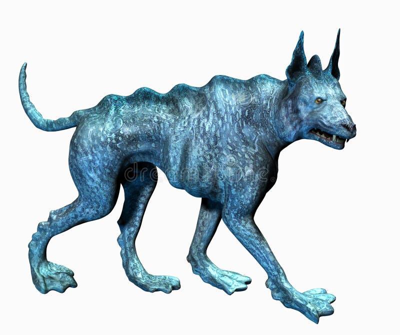 Cão do Aqua - inclui o trajeto de grampeamento ilustração royalty free