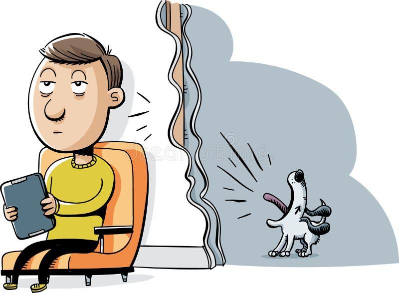 Cão do descascamento ilustração royalty free