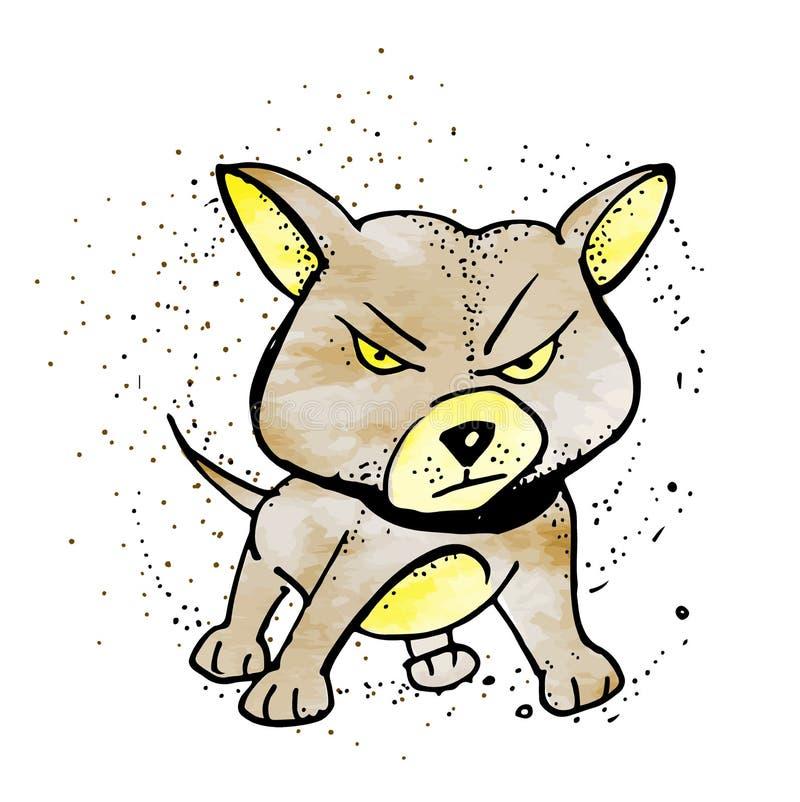Cão do descascamento dos desenhos animados Ilustração do clipart do vetor ilustração royalty free