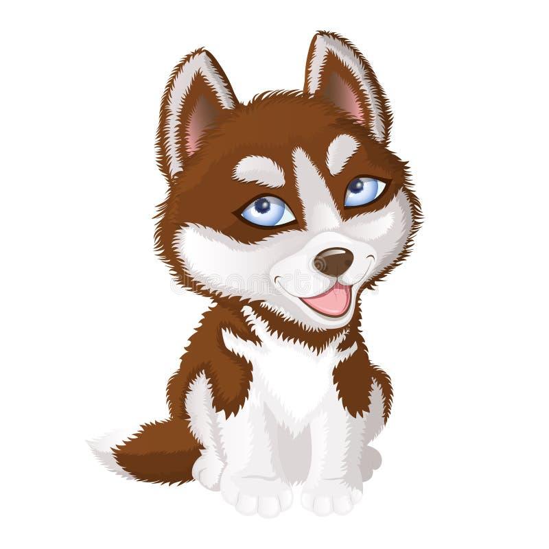 Cão do Malamute do Alasca ilustração do vetor