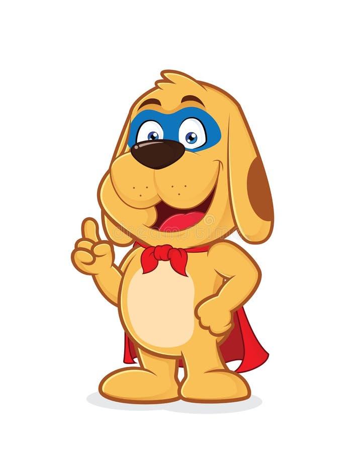 Cão do super-herói ilustração stock