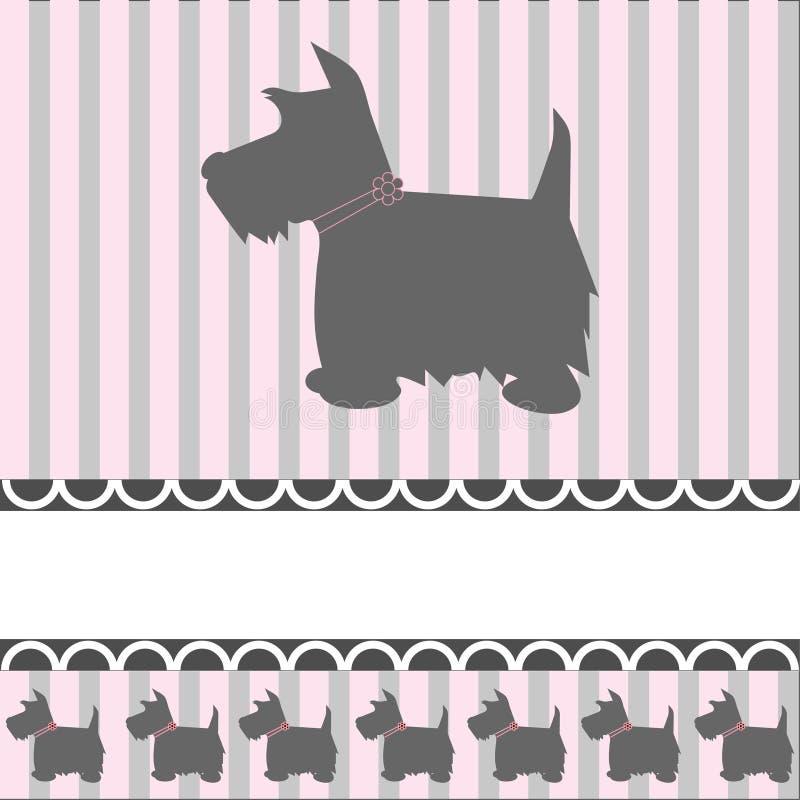 Cão do terrier ilustração stock