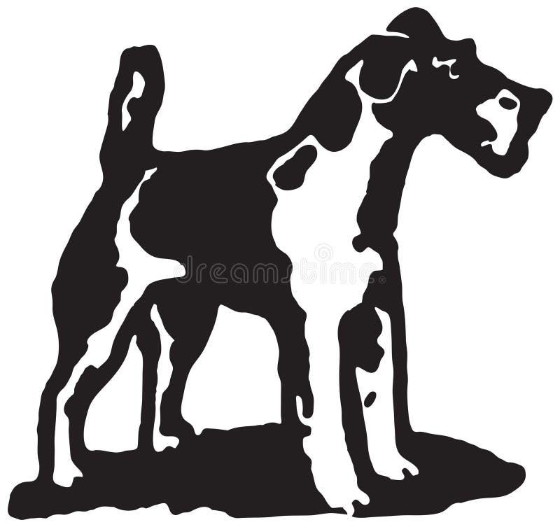 Cão 2 do terrier ilustração royalty free