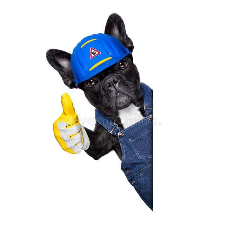 Cão do trabalhador manual fotos de stock royalty free