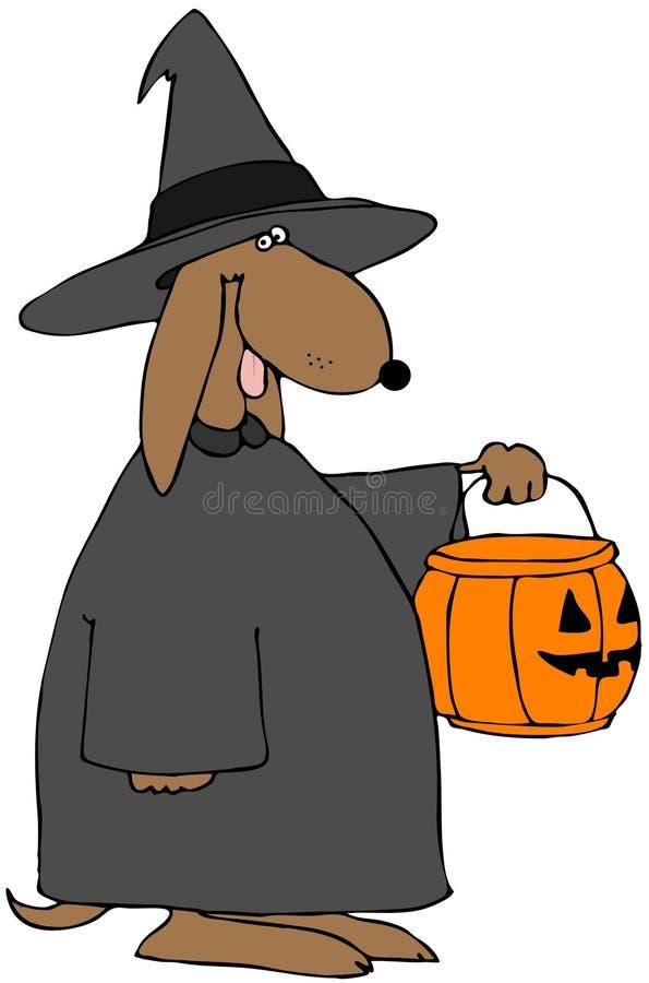 Cão do truque ou do deleite ilustração do vetor