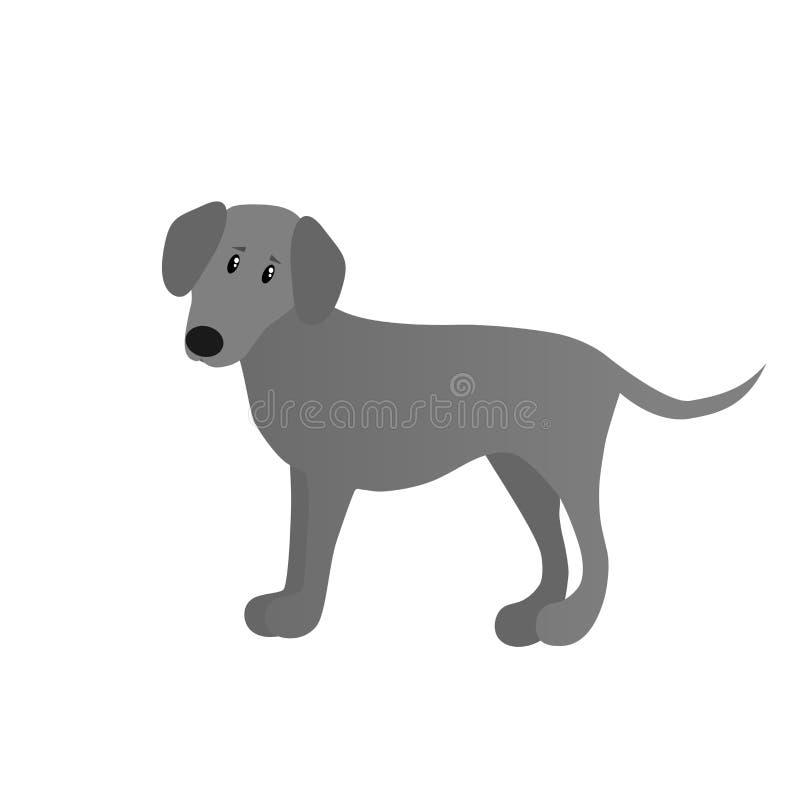 Cão dos desenhos animados do vetor de Weimaraner fotografia de stock