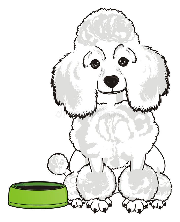 Cão e bacia vazia ilustração stock