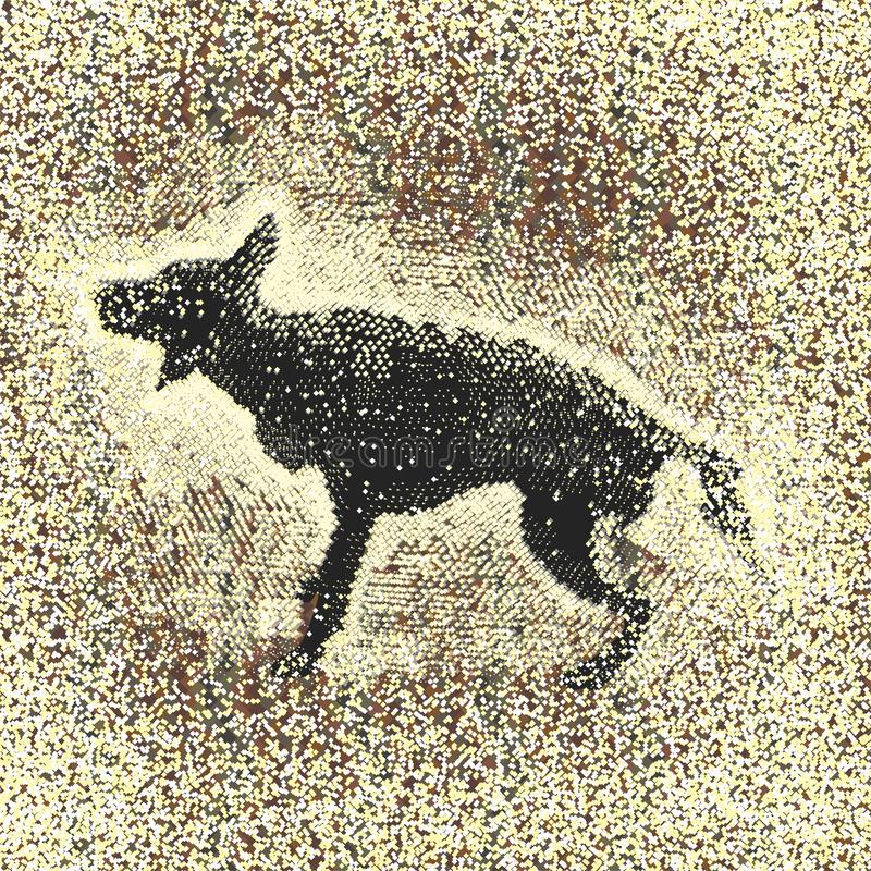 Cão e chuva do pulverizador ilustração royalty free