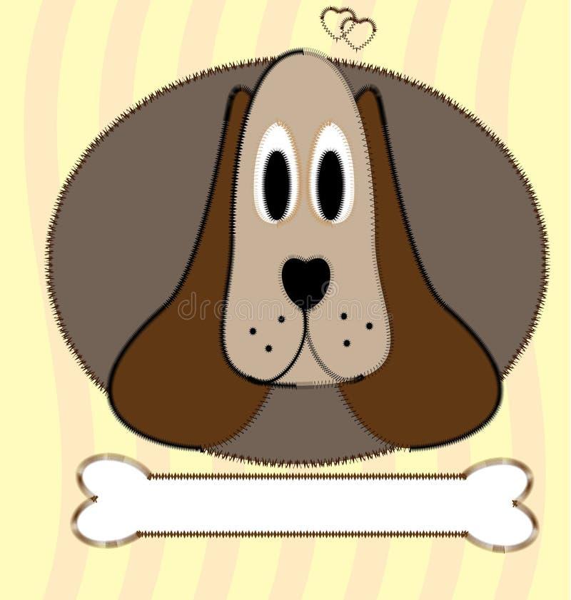 Cão e osso ilustração do vetor