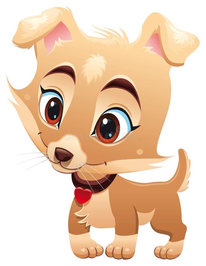 Cão engraçado do bebê ilustração do vetor