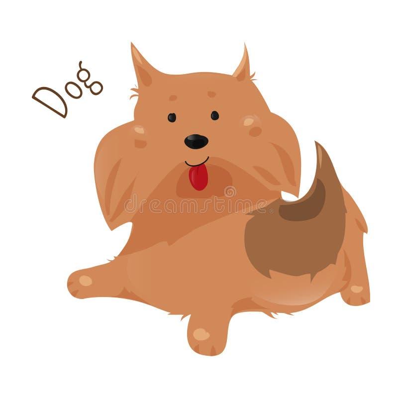Cão Etiqueta para crianças Ícone do divertimento da criança ilustração royalty free