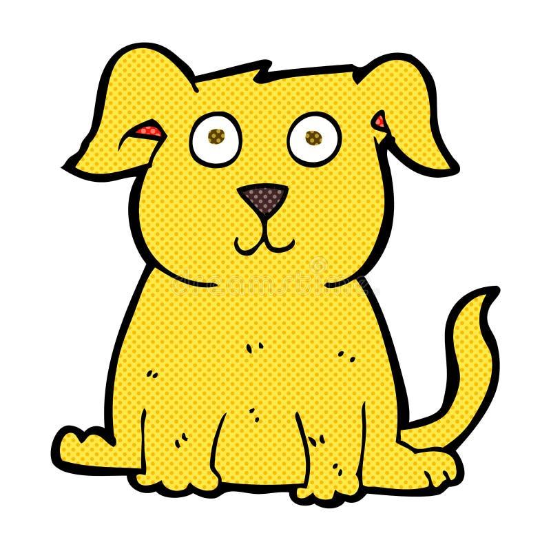 cão feliz dos desenhos animados cômicos ilustração do vetor
